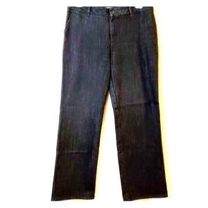 Chicos Sizing 2.5 R Platinum Womens Dark Jeans